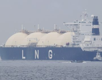 In this file photo, Liberian LNG tanker Al Hamra arrives at a port in Yokohama, southwest of Tokyo,  Monday, April 21, 2014. (Koji Sasahara/AP Photo)