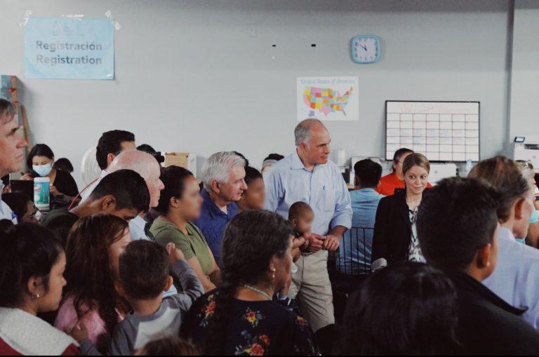 Pennsylvania U.S. Senator Bob Casey tours a migrant facility at the U.S-Mexico border. (Photo courtesy: Senator Casey's office)