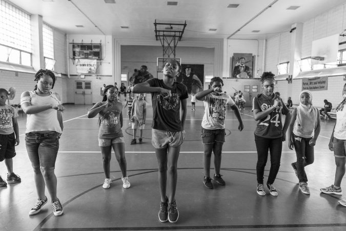 A portrait of summer at the Hank Gathers Recreation Center in North Philadelphia. (Jessica Kourkounis for Keystone Crossroads)