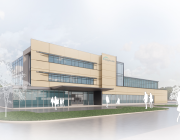 A rendering shows the proposed design for the Bayhealth emergency department. (Courtesy of Bayhealth)