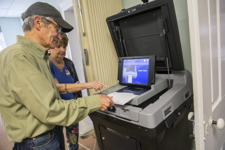 Centre County introduced new ES&S voting machines in the primary on May 21, 2019. (Min Xian/WPSU)