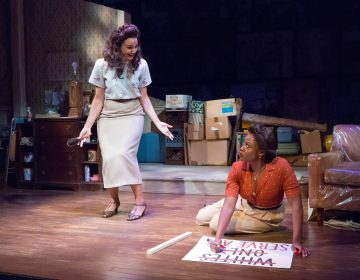 Tiffany Rachelle Stewart (left) and Gillian Glasco in the world-premiere production of