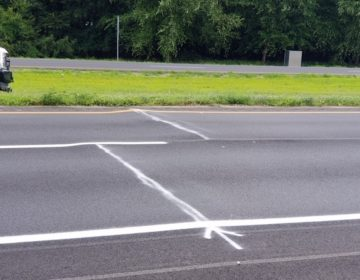 """A section of Delaware Route 1 near Milford was damaged by a """"road heaving"""" incident that caused the roadway to buckle. The main route to Delaware's beaches was repaired overnight and reopened early Friday morning. (DelDOT photo)"""