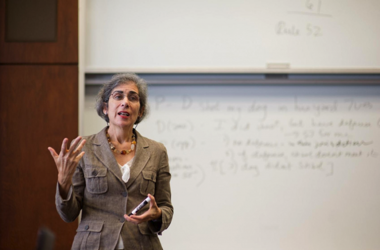 Amy Wax teaches a class at the University of Pennsylvania.