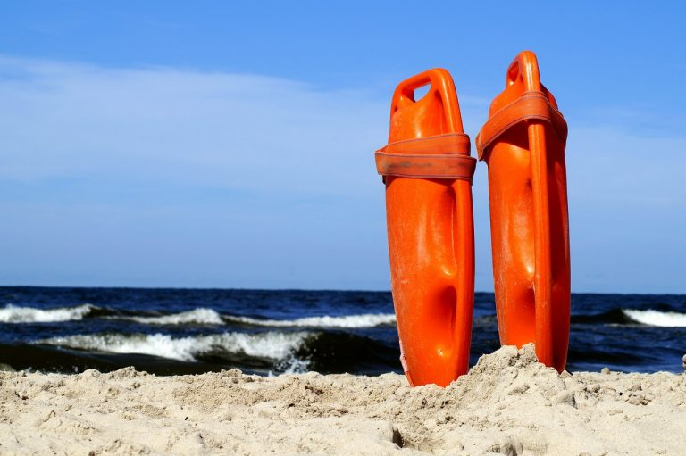 Lifeguard rescue torpedoes. (Public domain image)