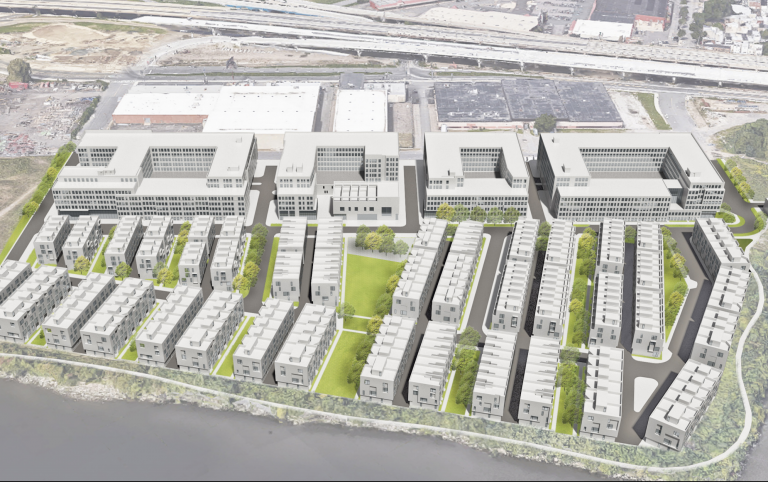 A view of the 2001 Beach Street development from the air  hickock cole and ISA Architects)