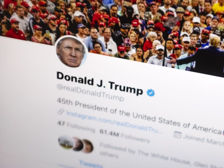 On Tuesday, a federal appeals court upheld a lower court's ruling that President Trump cannot block people he disagrees with from his Twitter account. Above, Trump's Twitter feed is seen on June 27. (J. David Ake/AP)