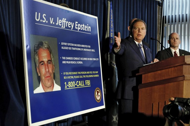United States Attorney for the Southern District of New York Geoffrey Berman speaks during a news conference, in New York, Monday, July 8, 2019. (AP Photo/Richard Drew)