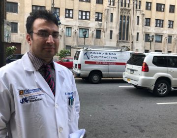 Siddique Akbar, a second-year nephrology fellow at Hahnemann, is concerned about uprooting his family if he has to find a new placement out of town. (Nina Feldman/WHYY)