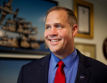 Jim Bridenstine became NASA administrator in April 2018. He says that before the space agency can send humans to Mars, it has to get them back to the moon. (Olivia Falcigno/NPR)