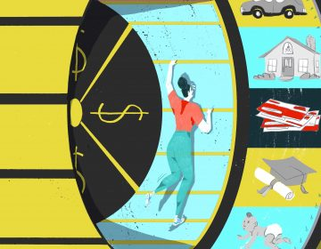 Many adults in the U.S. take out student loans but never finish their degree — leaving them in a vicious cycle of deb (LA Johnson/NPR)