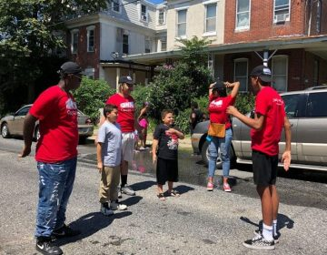 Some of the Kensington Play Captains facilitate a game on one of the Madison Street Playstreets on July 15, 2019. (Courtesy of Fab Youth Philly)