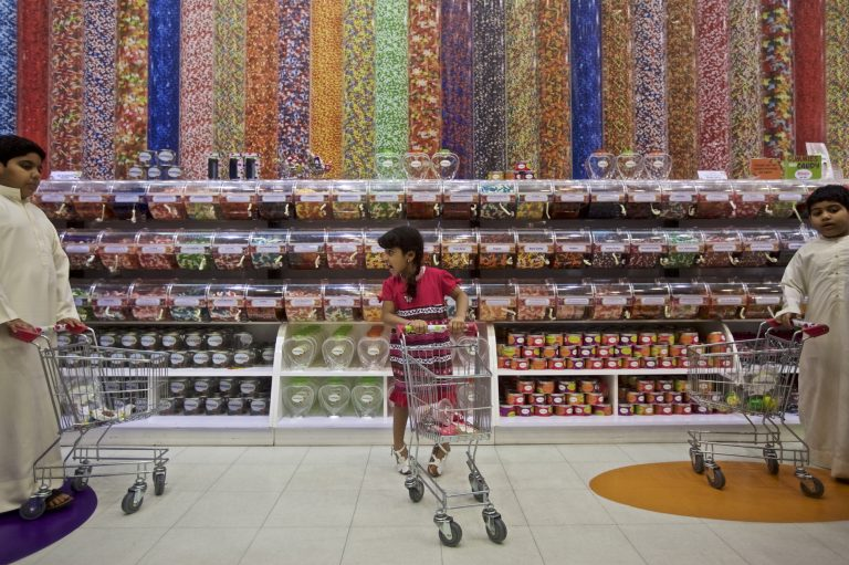 The Candylicious store in the Dubai Mall in the United Arab Emirates. (John Stanmeyer for NPR)