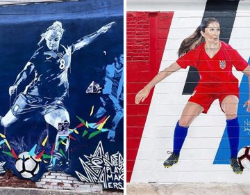 USWNT's Julie Ertz and Carli Lloyd are featured in new muralsINSTAGRAM: @SPRINGARTSPHL AND @NILELIVINGSTON