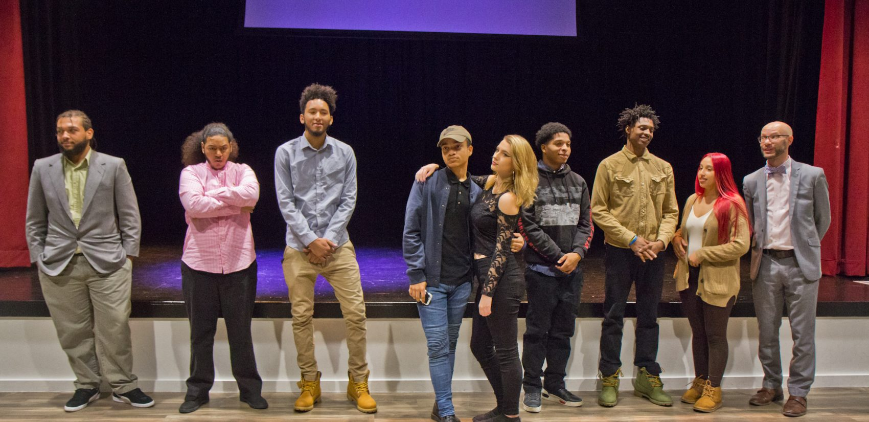 Students from El Centro's December 2018 cohort at the legacy project presentation event. (Kimberly Paynter/Keystone Crossroads)