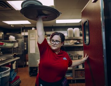 Christina Munce waits tables at Broad Street Diner in Philadelphia, where she's worked for more than eight years. (Sasha Arutyunova for TIME)