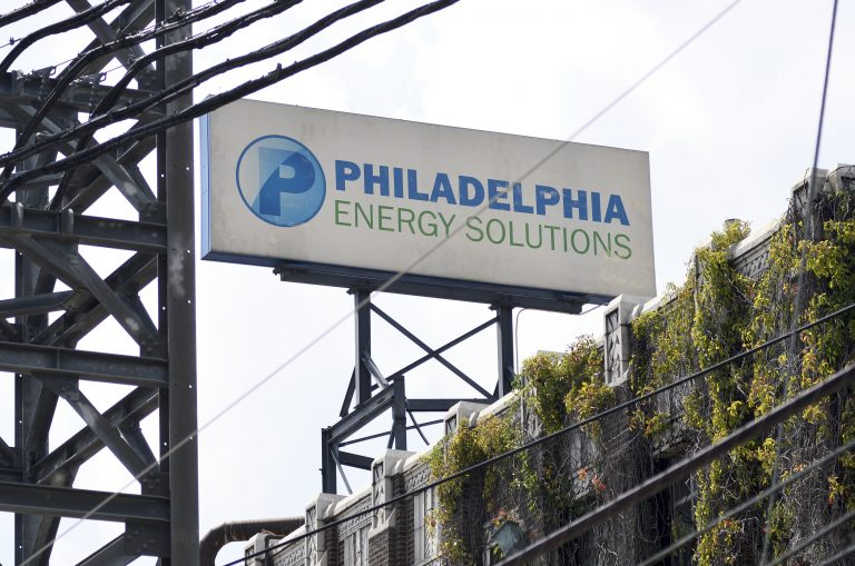 Philadelphia Energy Solutions Refinery on August 8, 2019. (Bastiaan Slabbers for WHYY)