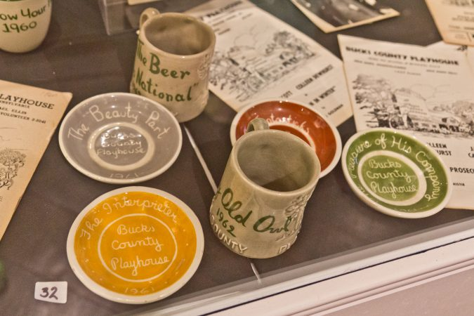 Production specific ash trays were common at the Bucks County Playhouse in the 1960s. (Kimberly Paynter/WHYY)