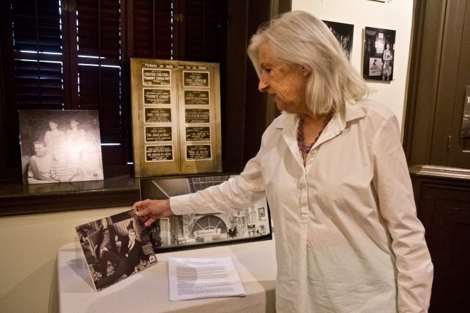 Dee Dee Bowman is the Collections Chair of the Parry Mansion Museum in New Hope. (Kimberly Paynter/WHYY)