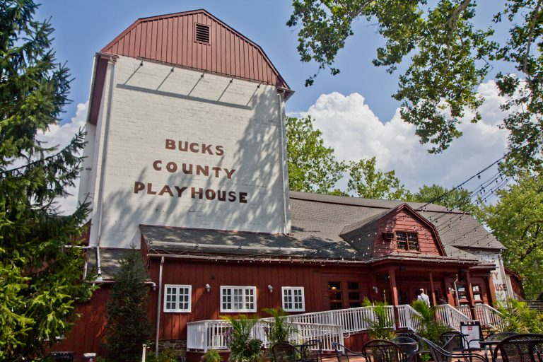 The Bucks County Playhouse was once a working mill but was converted into a summer theater in the 1930s. (Kimberly Paynter/WHYY)