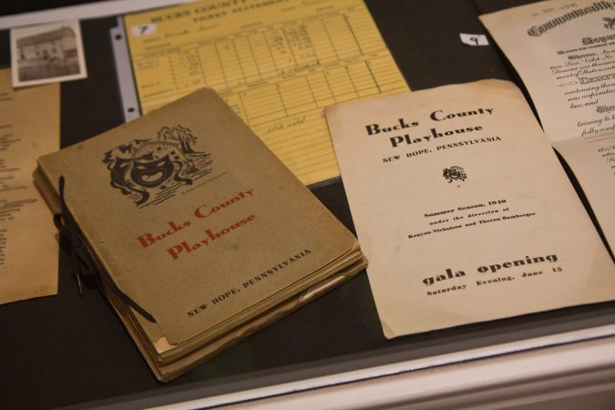 Artifacts from the history of the Bucks County Playhouse are on display at the Parry Mansion Museum in New Hope. (Kimberly Paynter/WHYY)