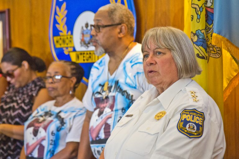Philadelphia's interim police commissioner, Christine Coulter. (Kimberly Paynter/WHYY)