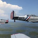 The Geico Skytypers are a one-of-a-kind fleet of vintage planes that do precision formation stunts (Danya Henninger/Billy Penn)
