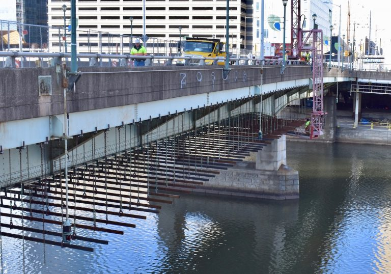A view of the Chestnut Street bridge in 2019.