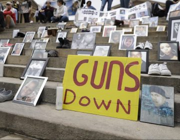 Demonstrators and students gather during a rally against gun violence on the steps of the Philadelphia Museum of Art, Monday, June 11, 2018, in Philadelphia. (Matt Slocum / AP Photo)