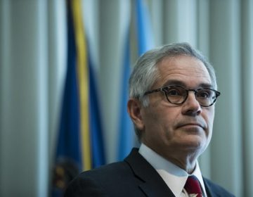 In this file photo, Philadelphia District Attorney Larry Krasner speaks with members of the media during a news conference in Philadelphia, Tuesday, Sept. 4, 2018. (Matt Rourke/AP Photo)