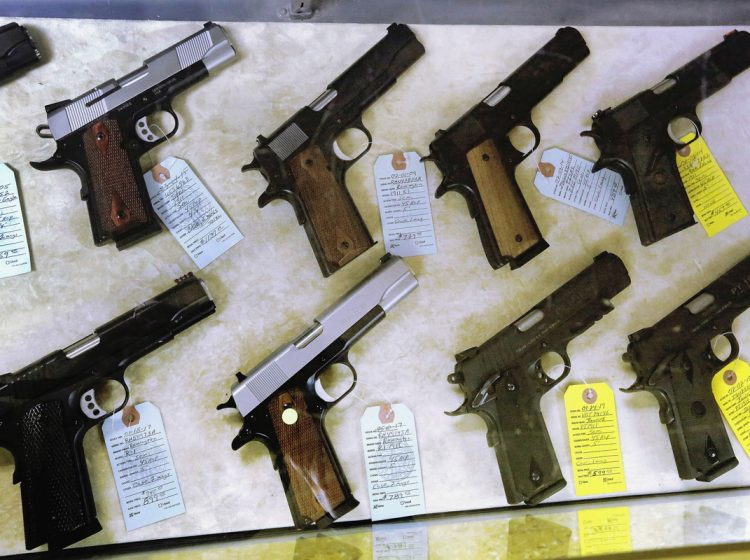In Pennsylvania, the issue of whether to regulate guns more closely is typically seen as partisan. (Seth Perlman/AP Photo)