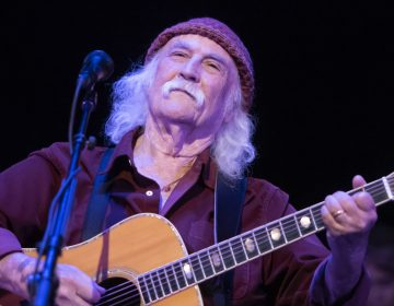 Two-time Rock and Roll Hall of Fame inductee David Crosby closes out the Philadelphia Folk Festival with a Sunday night performance. (Jonathan Wilson for WHYY)