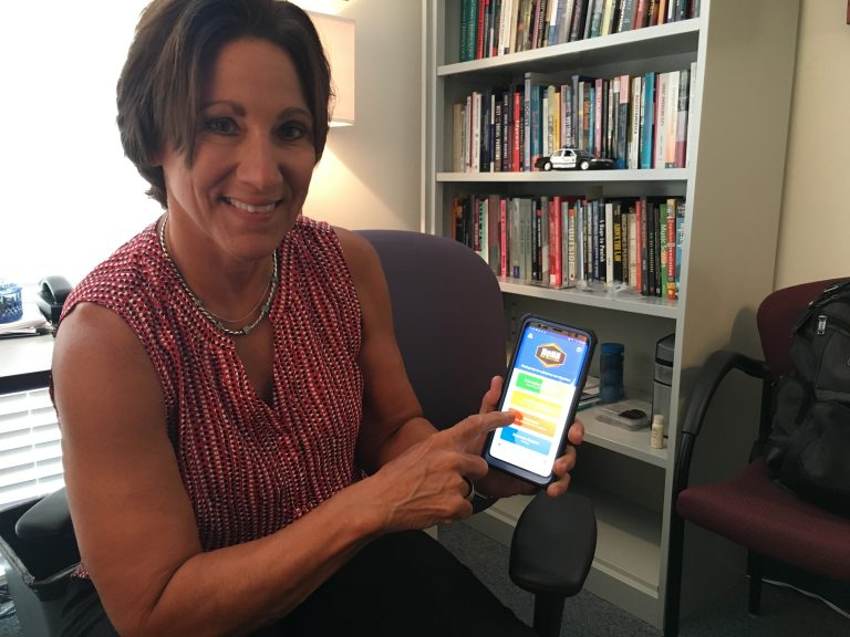 The HeNN app developed at the University of Delaware provides detailed information about help for those struggling with substance use disorder. (Mark Eichmann/WHYY)