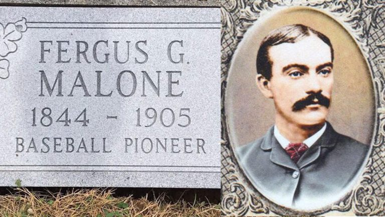 Vintage baseball clubs from Philadelphia and Delaware will honor one of the game's original stars, Fergy Malone, with a grave marker on Sunday and then renew their own friendly rivalry. (Courtesy of Diamond State Baseball Club)