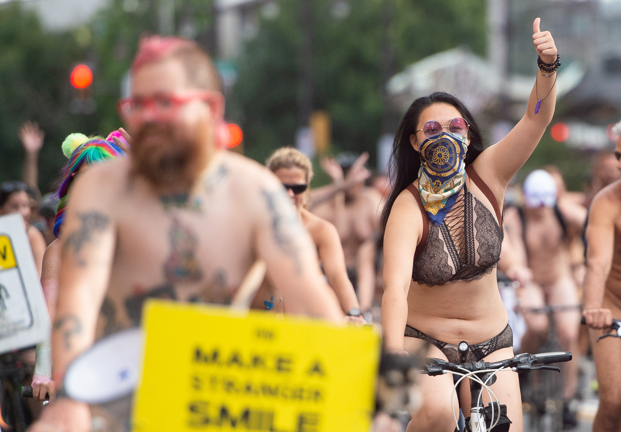 All smiles, Philly Naked Bike Ride returns for 11th year