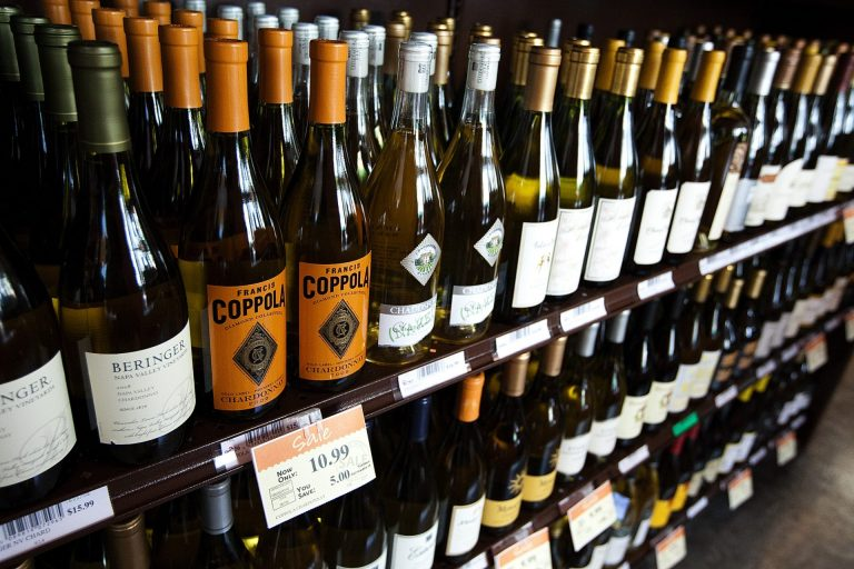 Bottles of wine are on display at the state-run wine and spirits store at 333 Market St. in Harrisburg. (WITF, file)