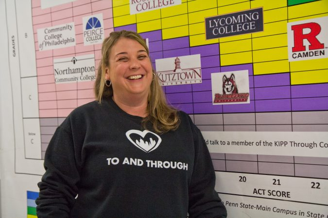 Susan Larson is the last of the original teachers who still works for KIPP Philadelphia Schools. (Kimberly Paynter/Keystone Crossroads)