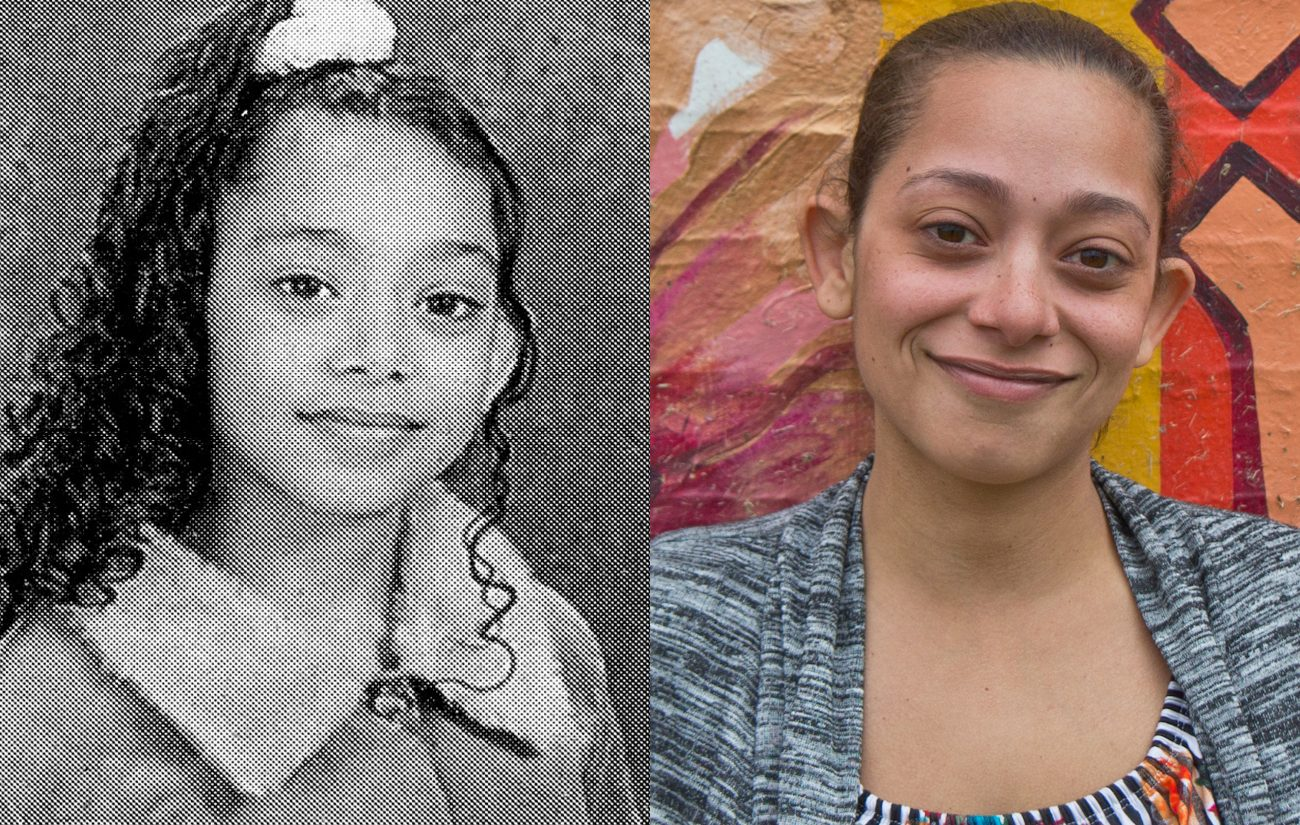 Zuleika Roman (pictured at left in 2005 and at right in 2019) bought in to KIPP's, paycheck-style behavior system.