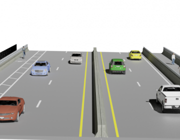 A rendering of the final layout of the Grays Ferry Avenue Bridge. (PennDOT)