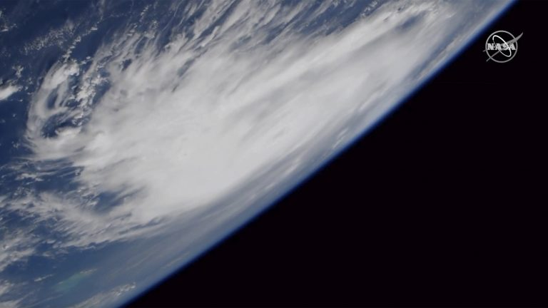 This Friday, Aug. 30, 2019, image provided by NASA shows a view of Hurricane Dorian from the International Space Station as it churned over the Atlantic Ocean. (NASA/AP)