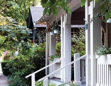 A new bill would legalize accessory dwelling units in historic buildings, like the Benezet Street houses pictured. (Carol Franklin/Chestnut Hill Conservancy and Historical Society)