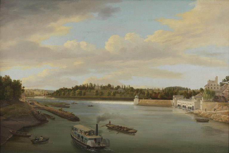 Thomas Birch, Fairmount Water Works 1821. (Courtesy of the Pennsylvania Academy of the Fine Arts, Philadelphia)