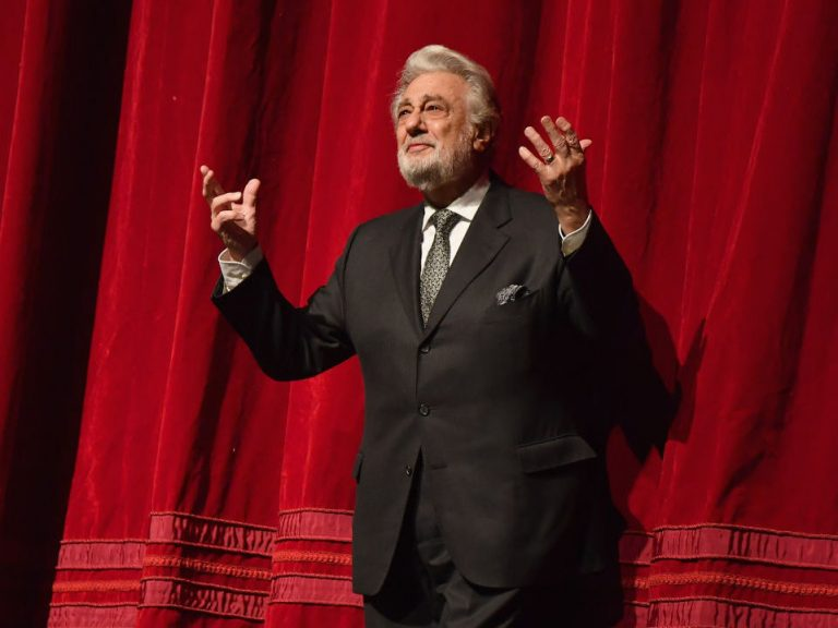 Placido Domingo, onstage at New York's Metropolitan Opera in November 2018. (Angela Weiss/AFP/Getty Images)