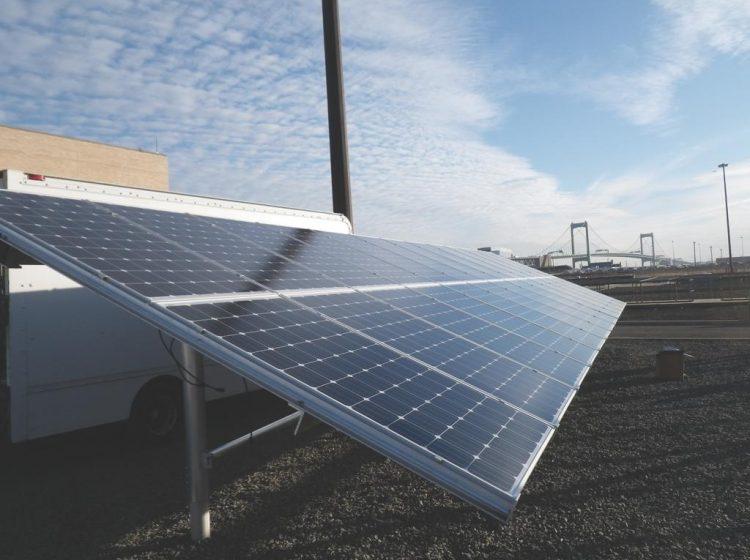 A solar panel owned by the City of Philadelphia. (City of Philadelphia)
