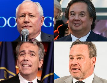 Trump critics (clockwise from top left) Bill Kristol, George Conway, David Frum, and Joe Walsh. (AP Photos)
