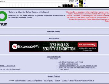 An archived screenshot of 8chan, an online message board that shooters have used to post messages before their attacks, describes itself as 'the darkest reaches of the Internet.' (Wayback Machine/Screenshot by NPR)