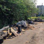 Some of the trash on Alisha Ebling's block. (Alisha Ebling for Billy Penn)
