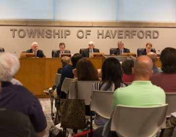 The Haverford Board of Commissioners met for the first time since Bon Air volunteer firefighter company was shut down on Wednesday September 4th because a member had sought membership with the Proud Boys. The actions by the township have residents split. The township announcedthat the fire house will be reopened. (Emily Cohen for WHYY)