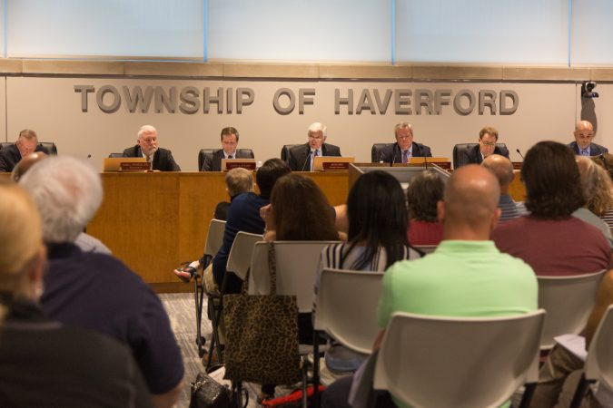 The Haverford Board of Commissioners met for the first time since Bon Air volunteer firefighter company was shut down on Wednesday September 4th because a member had sought membership with the Proud Boys. The actions by the township have residents split. The township announced that the fire house will be reopened. (Emily Cohen for WHYY)
