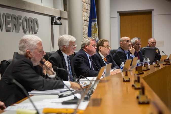 The Haverford Board of Commissioners. (Emily Cohen for WHYY)